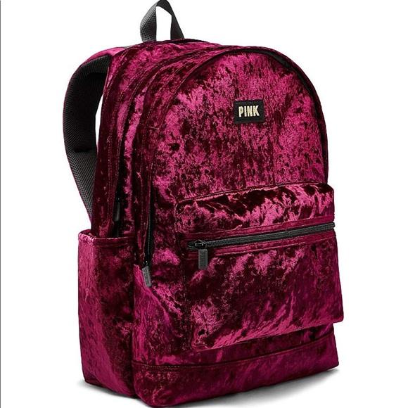 703495d041 M 5b8c7e02cdc7f748ad4aa3b2. Other Bags you may like. PINK campus backpack. PINK  campus backpack.  30  65. VS PINK maroon burgundy collegiate backpack